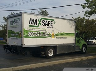 Box Truck with Partial Vehicle Wrap