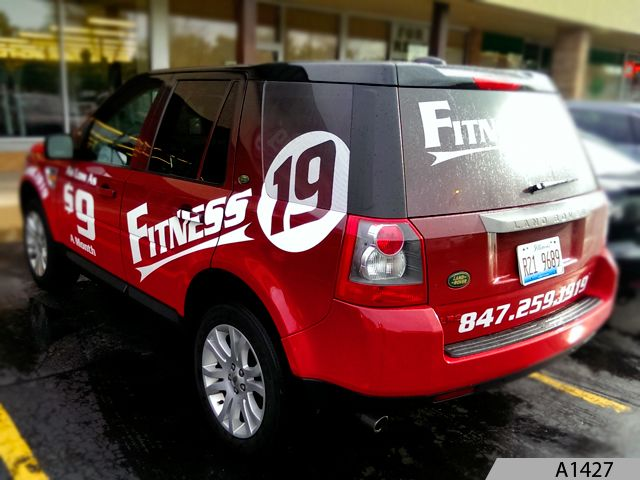Vehicle Wrap for Fitness 19 in Arlington Heights