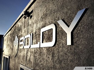 3-Dimensional Brushed Silver Aluminum Letters for Soldy Manufacturing Co. in Schiller Park, IL