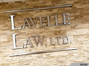 3-Dimensional Brushed Aluminum Letters for Lavelle Law Ltd. in Palatine, IL