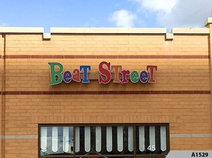 Colorful Illuminated Channel Letters made and installed for Beat Street in Arlington Heights