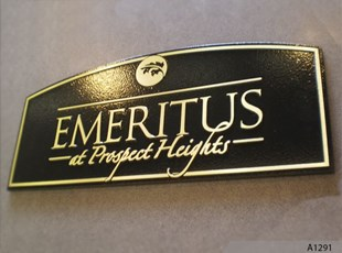 Cast metal plaques are the best way to identify special places, events and people. Emeritus, Prospect Heights, IL