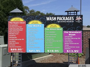 Aluminum Signs, car wash signs, facilities signs, buiilding signs, Grand Prix Car Wash in Deerfield, IL