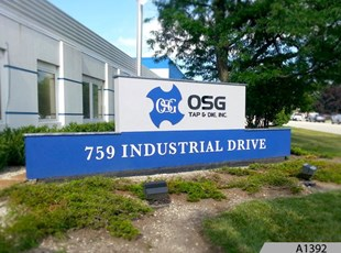 Refurbished Monument Sign for OSG USDA Inc. in Bensenville, IL
