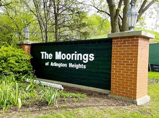 Monument Sign with 3-Dimensional Letters for The Moorings of Arlington Heights