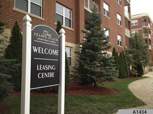 Routed or Engraved Polycarve Post and Panel Signs, made out of HDPE, a Multi-Color Engravable Polymer Sheet. Two Itasca Place Apartments, Itasca, IL