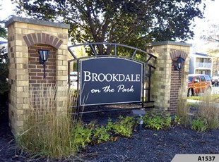 Routed or Engraved Polycarve Post and Panel Signs, made out of HDPE, a Multi-Color Engravable Polymer Sheet. Brookdale on the Park, Naperville, IL