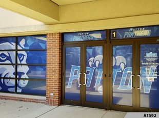 Perforated Window Film | Full Color Window Graphics | Education | Patton Elementary School, Arlington Heights, IL