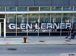 Perforated Window Film | Simple but Effective Window Lettering | Glen Lerner Injury Attorneys, Chicago, IL