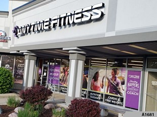 Perforated Window Film | Full Color Window Graphics | Fitness | Anytime Fitness, Arlington Heights, IL