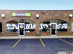 Simple but Effective Window Lettering | Fitness | The Trainers Spot, Arlington Heights, IL