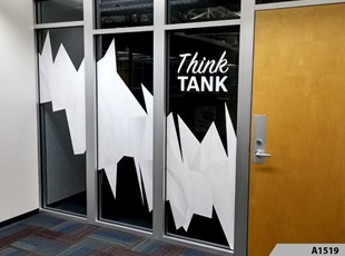 Simple but Effective Window Lettering | Indoor Vinyl Lettering & Graphics | Fitness | Arlington Heights, IL