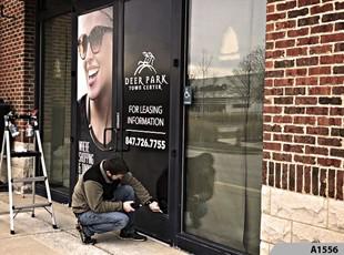 Window Vinyl Lettering | Outdoor Vinyl Lettering & Graphics | Property Mgmt. | Deer Park Town Center, Deer Park, IL