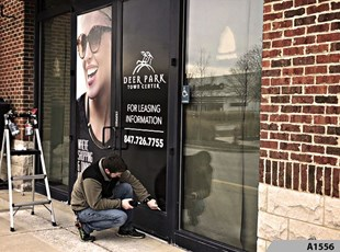Window Vinyl Lettering | Outdoor Vinyl Lettering & Graphics | Property Mgmt. | Deer Park Town Center, Deer Park, IL