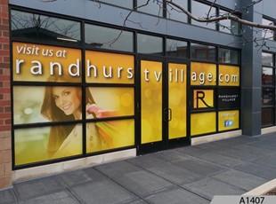 Full Color Window Graphics   Outdoor Vinyl Lettering & Graphics   Retail   Randhurst Mall, Mt. Prospect, IL