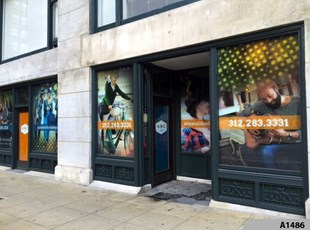 Full Color Window Graphics | Indoor or Outdoor Vinyl Lettering & Graphics | Retail | CA Student Living, Chicago, IL
