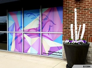 Full Color Window Graphics | Outdoor Vinyl Lettering & Graphics | Retail | Deer Park Town Center, deer Park, IL