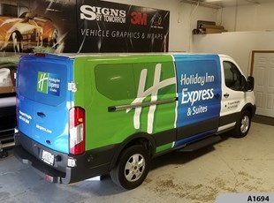 Cargo Vans | Vehicle Lettering & Graphics | Hospitality | Holiday Inn , Schaumburg, Mt. Prospect - Rolling Meadows