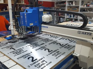 Manufacturing Brushed Aluminum Stairwell Signs