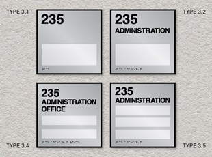 ADA Room ID Signs - with Windows for Name Inserts