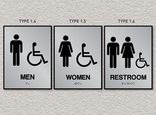 ADA Pro System Restroom Signs - Accessible