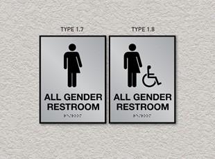 ADA Pro System Restroom Signs - Gender Neutral