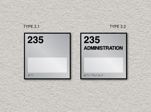 ADA Pro System Window Room ID Signs Single Insert