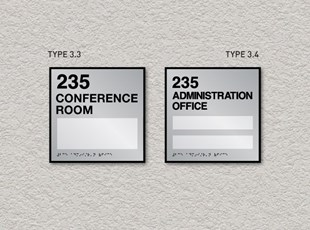 ADA Pro System Window Room ID Signs Single and Double Inserts