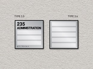 ADA Pro System Window Room ID Signs Triple and Five Inserts