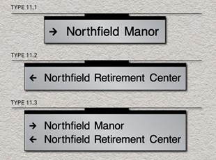 ADA Pro System - Wayfinding Ceiling Directional Signs