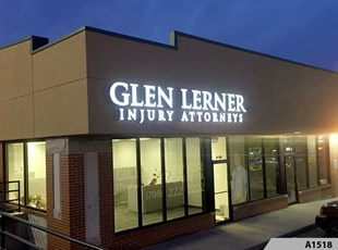 Front lit Channel Letters - Glen Lerner - A1518
