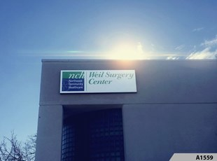 Illuminated Lightbox with translucent vinyl lettering | Healthcare | NCH Weil Surgery Center, Des Plaines, IL