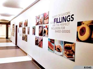 Wall Graphics & Murals | Reception & Office Signage | Hospitality & Lodging | Baldwin Richardson Foods Co, Oakbrook Terrace, IL