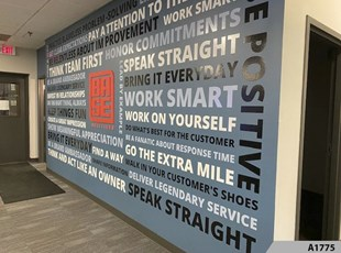 3D Wall Mural - Word Cloud Wall Graphics- 3D Lettering