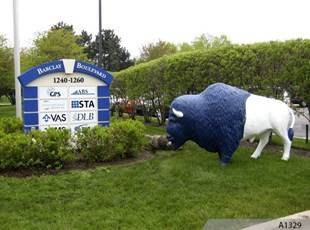 Foam Monument Sign with 3-Dimensional Tenant Signs | Buffalo Grove