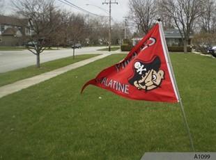 Palatine High School - Pirate Pete Mascot Custom Flag