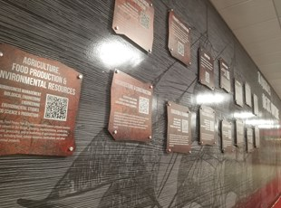 Printed Metal Signs with QR Codes