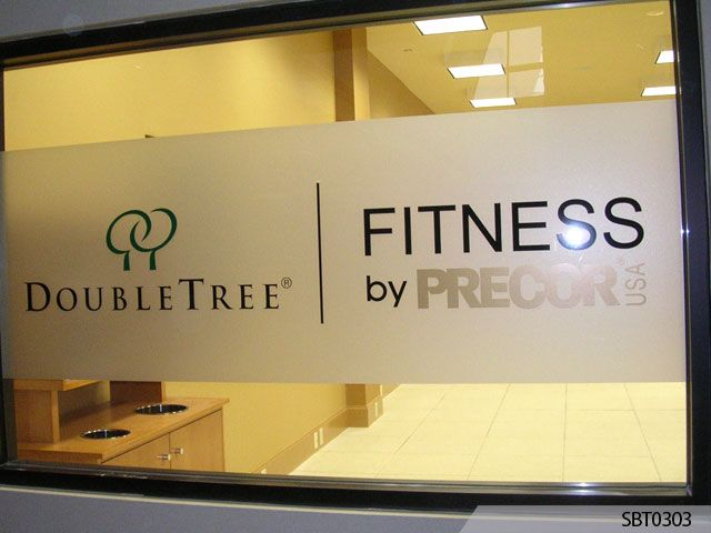 Double Tree Hotels Fitness Center Window Lettering