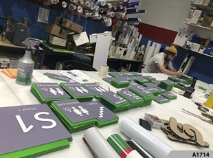 In-house ADA Sign Production - A1714