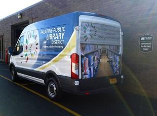 Partial Library Van Wrap