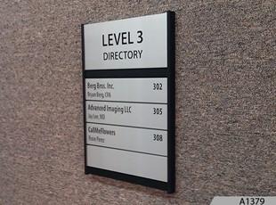 Modular Slatz Directory Sign System - A1379