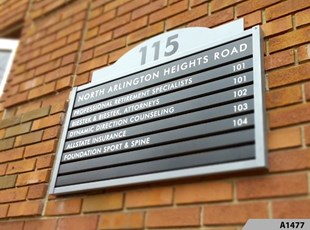 Exterior Building or Tenant Directory Sign - A1477