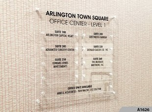 Acrylic Tenant Directory Sign with Standoffs - A1626
