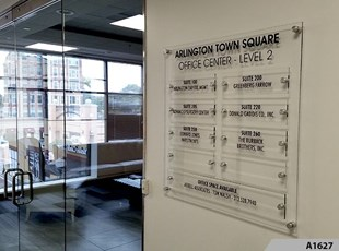 Arlington Town Square Tenant Directory Sign with Standoffs - A1627