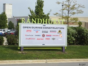 Directional Metal Sign - Randhurst Mall, Mt. Prospect, IL - A1297