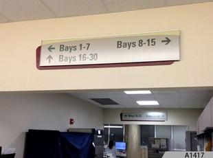 Overhead Directional Wayfind Sign - A1417