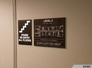 Stairwell Sign and Evacuation Map Signs - A1593