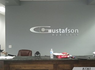 Brushed Aluminum Dimensional Letters - Gustafson Eye Care, Palatine