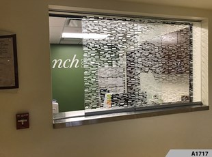 Dusted Vinyl as Semi Privacy Window Film - NCH Arlington Heights