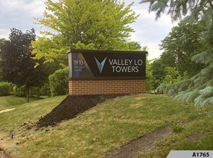 Illuminated Monument Sign - Valley Lo Tower in Glenview, IL